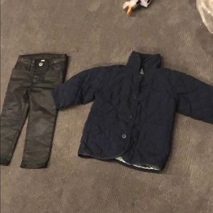 1 year old baby gap jacket and pants (girls)